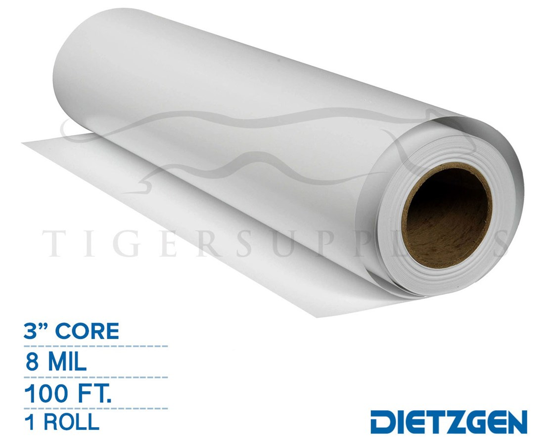 "Dietzgen Water Resistant Bright White PolyPro Paper, 8 mil, 3"" Core, 100ft. Roll"