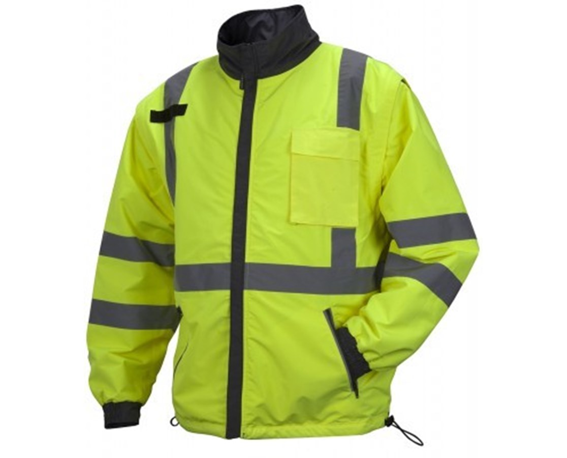 Pyramex RJR34 Series Hi-Vis Lime Safety Jacket PYRRJR3410M-