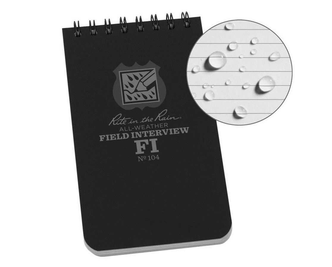 Field Interview Pocket Notebook RIT104