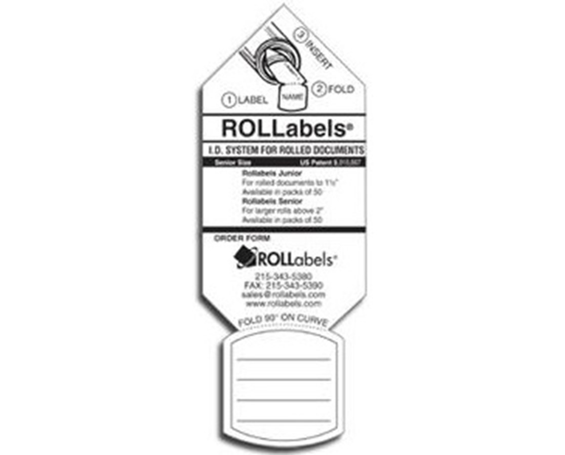 ROLLabels White Senior Labels (Qty. 250) ROLLROLSR