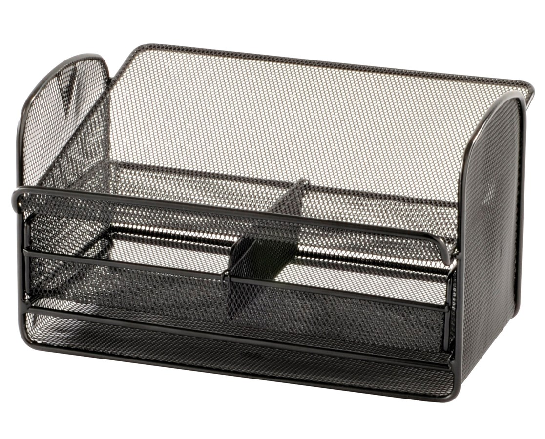 Safco Onyx Mesh Telephone Stand with Drawer (Qty. 5) SAF2160BL