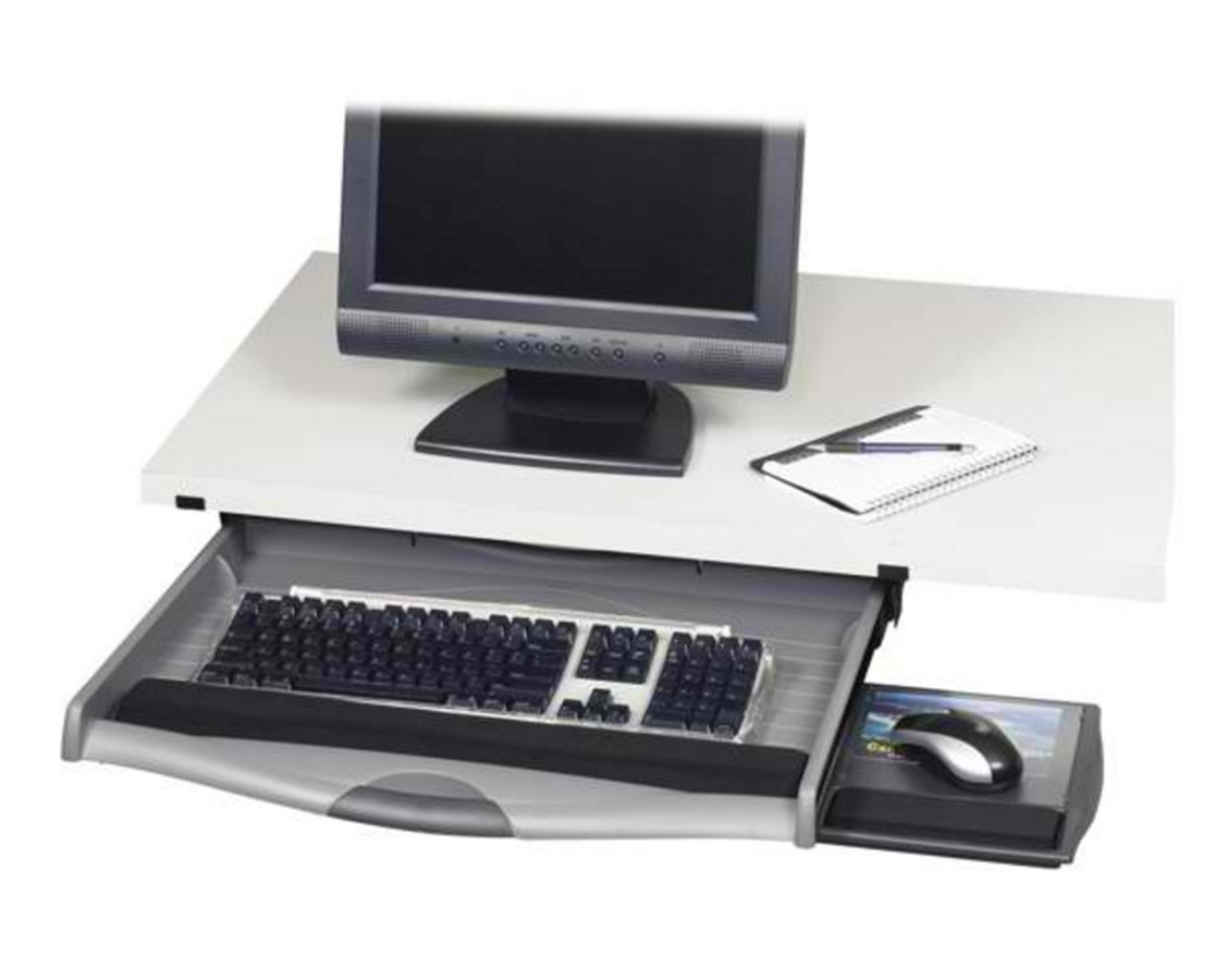 underdesk throughout design drawer measurements staples trays keyboard x