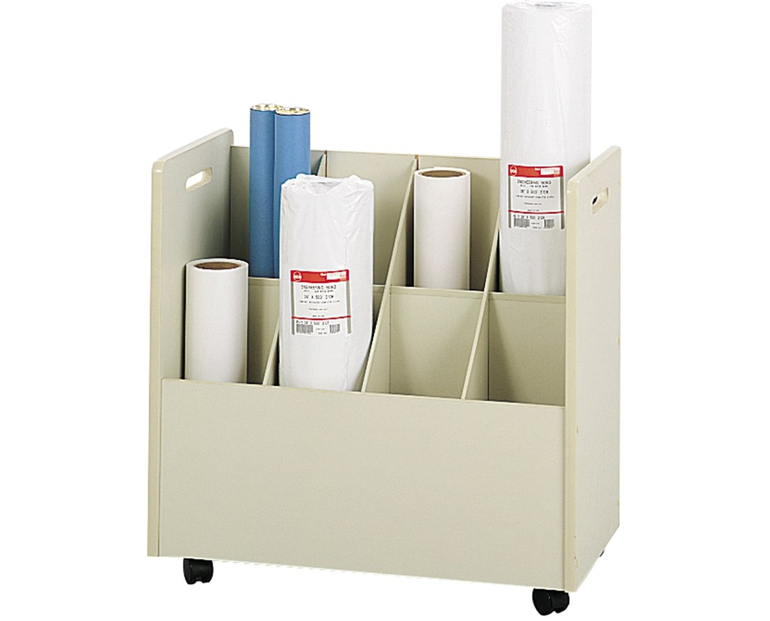 Safco Mobile Roll File with Handles SAF3045-