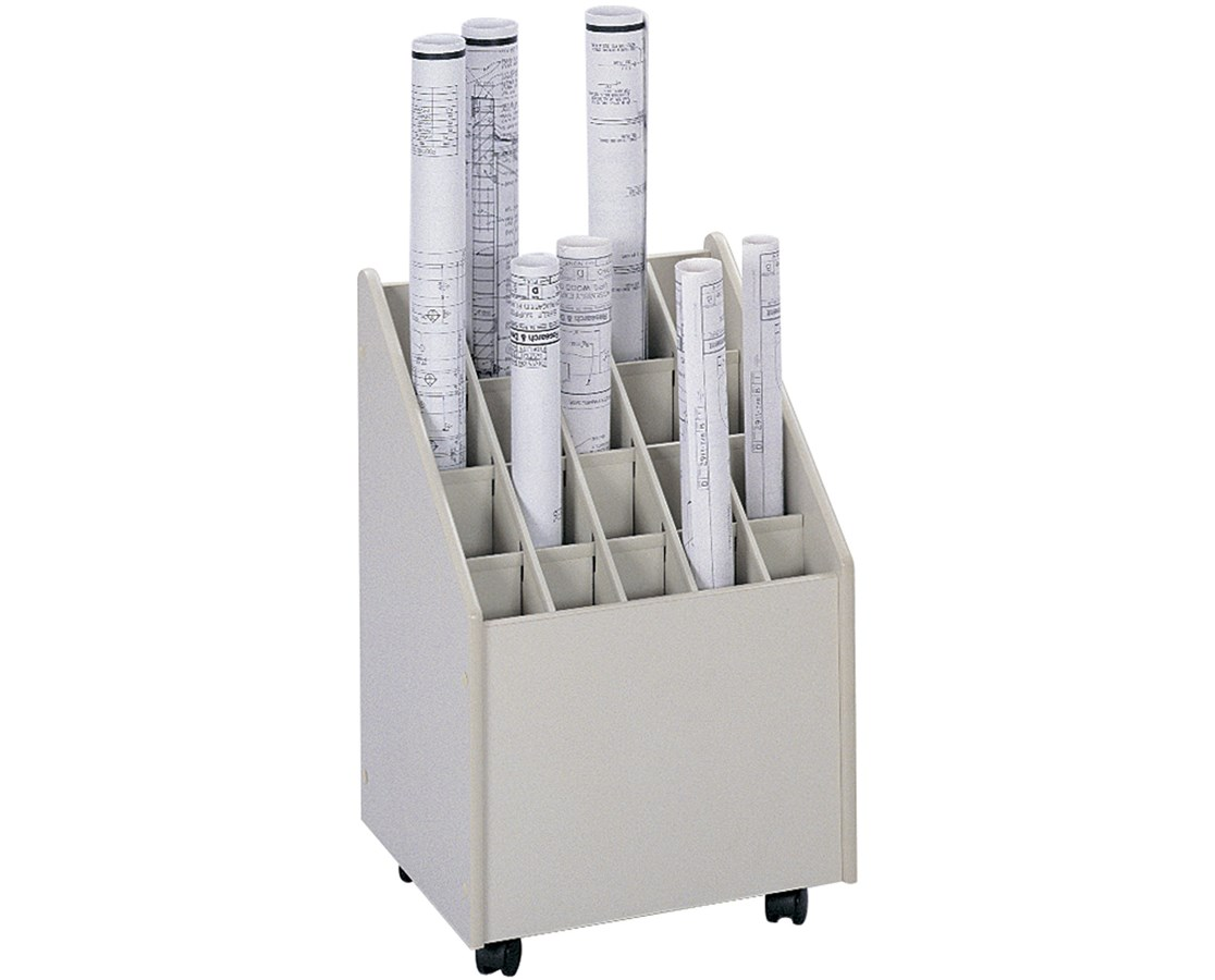 Safco 20-Compartment Mobile Roll File