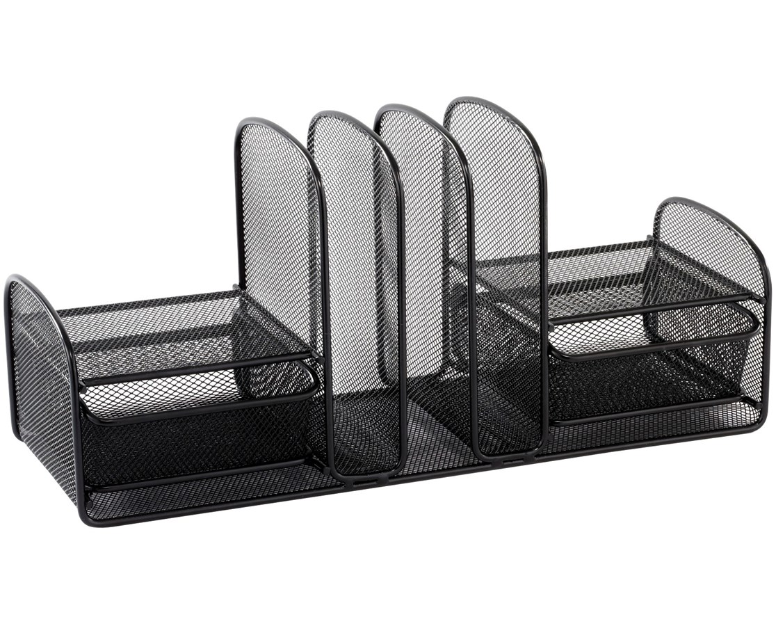 SAFCO Onyx™ Three Upright Sections/Two Baskets Black SAF3263BL