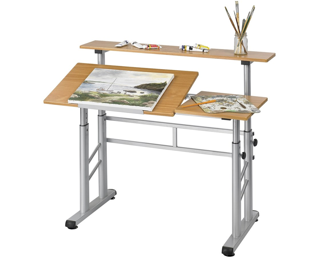 Safco Height Adjustable Split Level Drafting Table Tiger