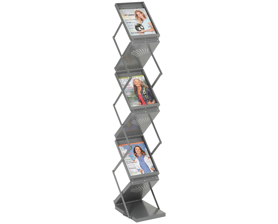 Safco Ready-Set-Go! Double-Sided Folding Literature Display