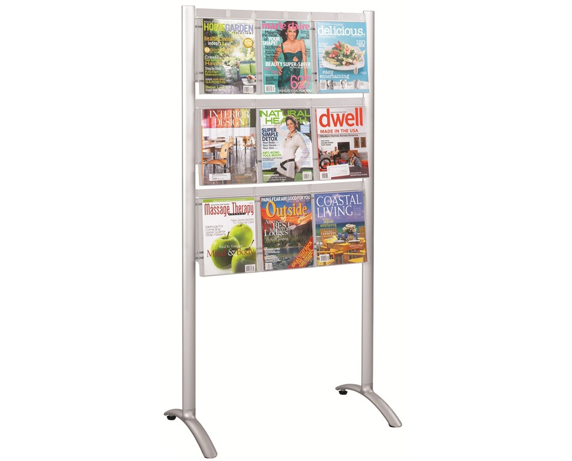 Safco Luxe 9-Pocket Magazine Floor Rack