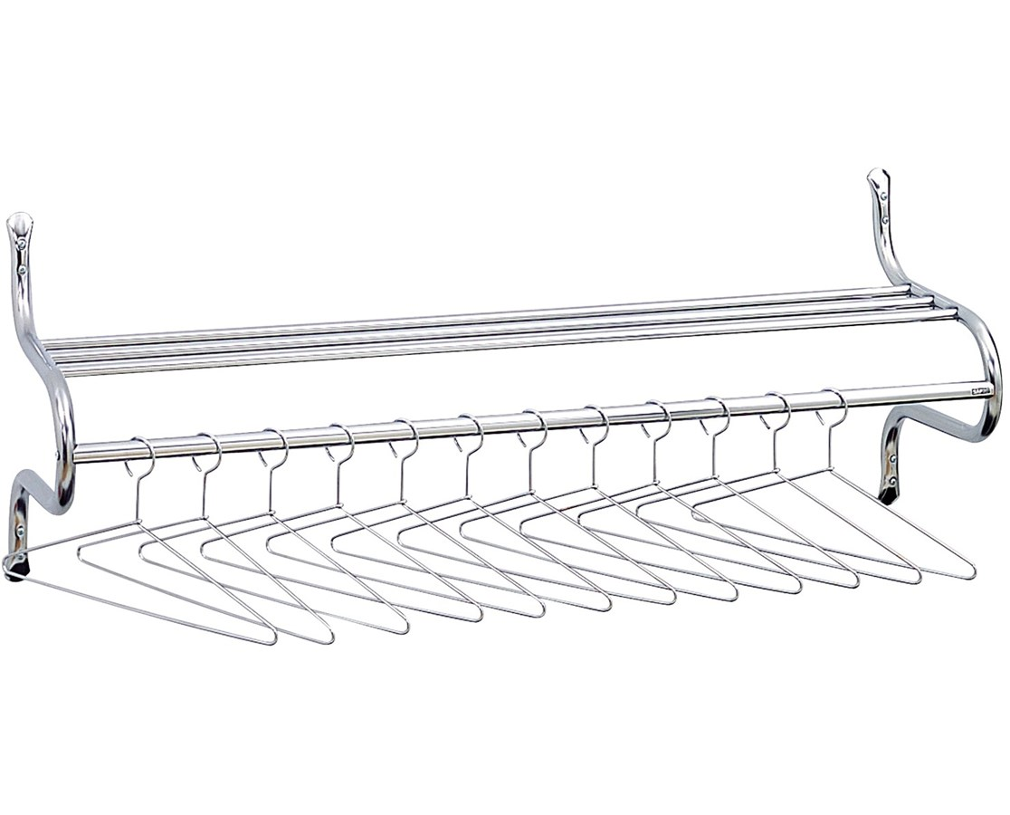 "Safco 48""W Shelf Rack with Hangers"