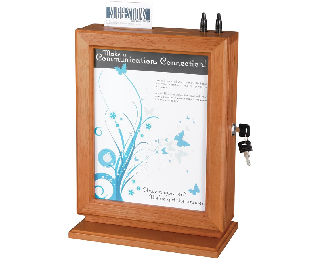 Safco Customizable Wood Suggestion Box 4236