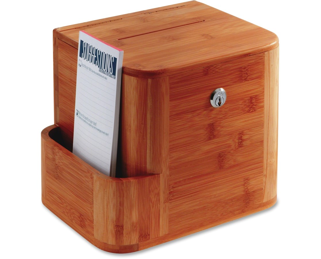 Safco Bamboo Suggestion Box SAF4237CY-