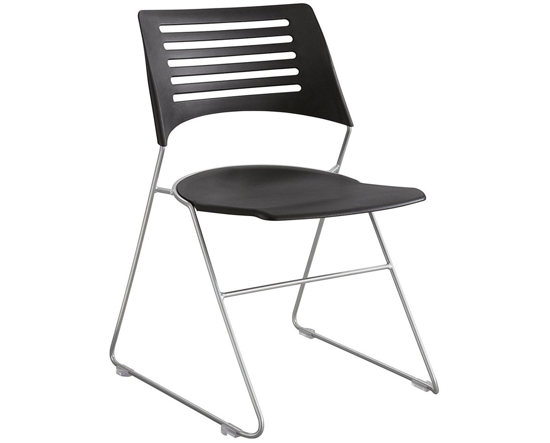 Safco Pique Stack Chair (Qty. 4) SAF4289BLSL-
