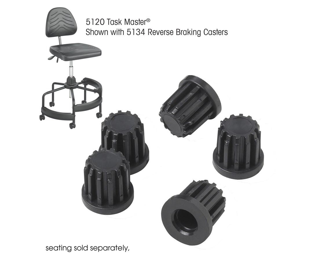 Tubular Base Inserts for Safco Task Master Industrial Chair (Qty. 5)