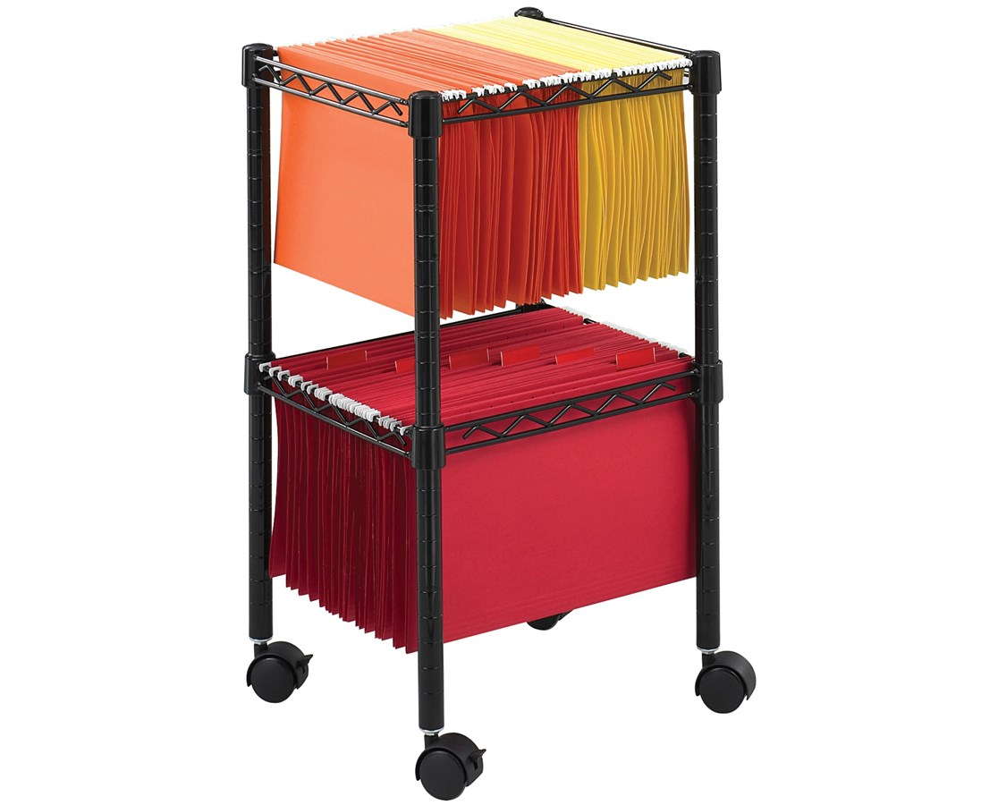 Safco Two-Tier Compact File Cart