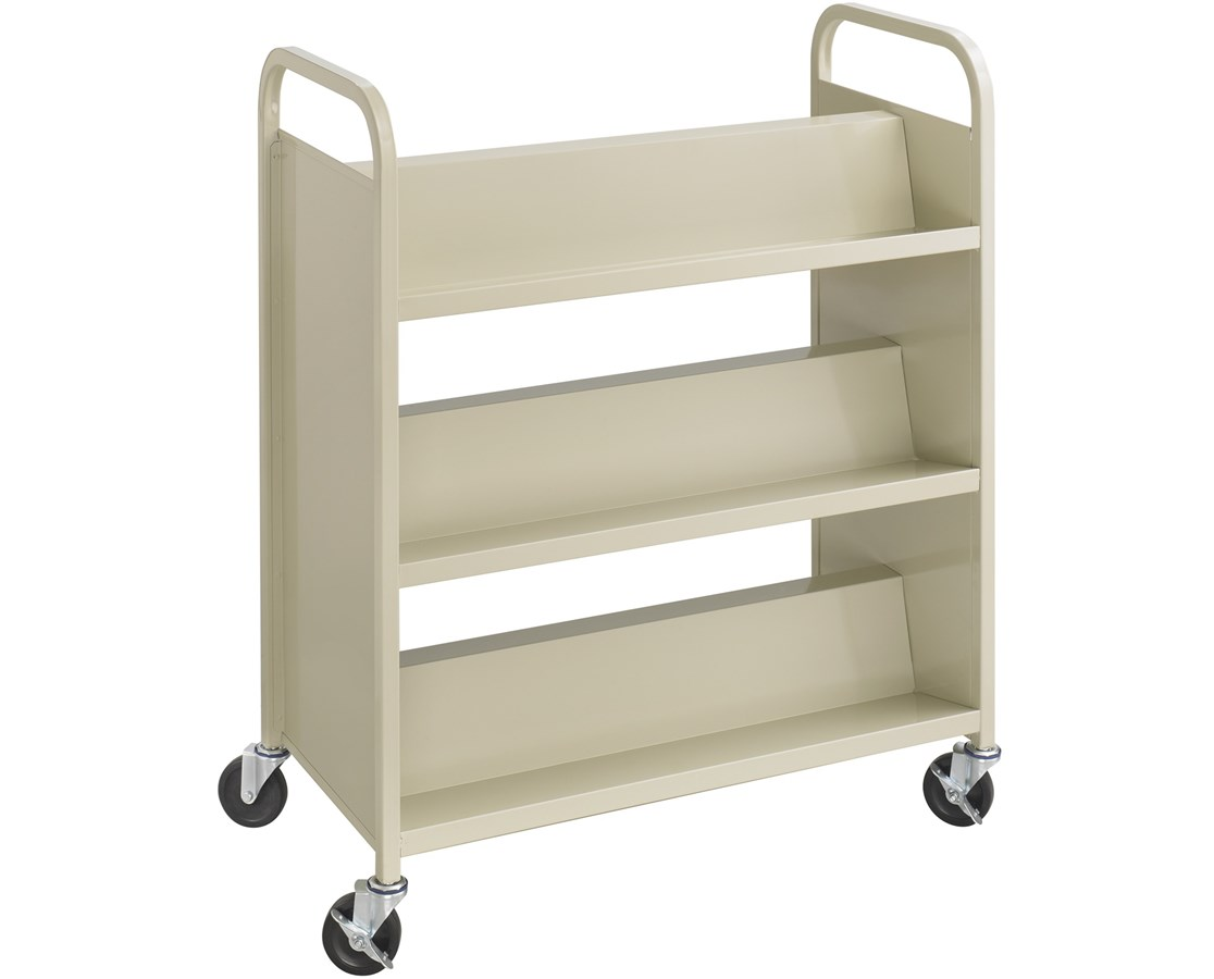 Safco Steel Double-Sided Book Cart - 6 Shelves SAF5336BL