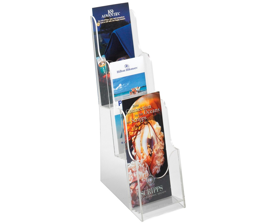 Safco Acrylic 3-Pocket Pamphlet Display