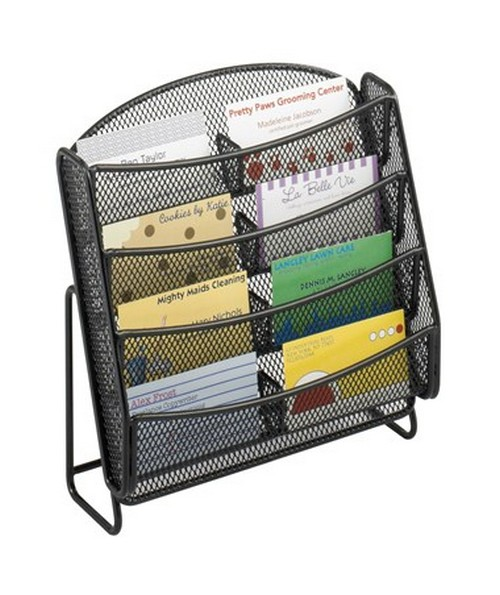 Safco Onyx 8-Pocket Mesh Business Card Holder (Qty. 6)