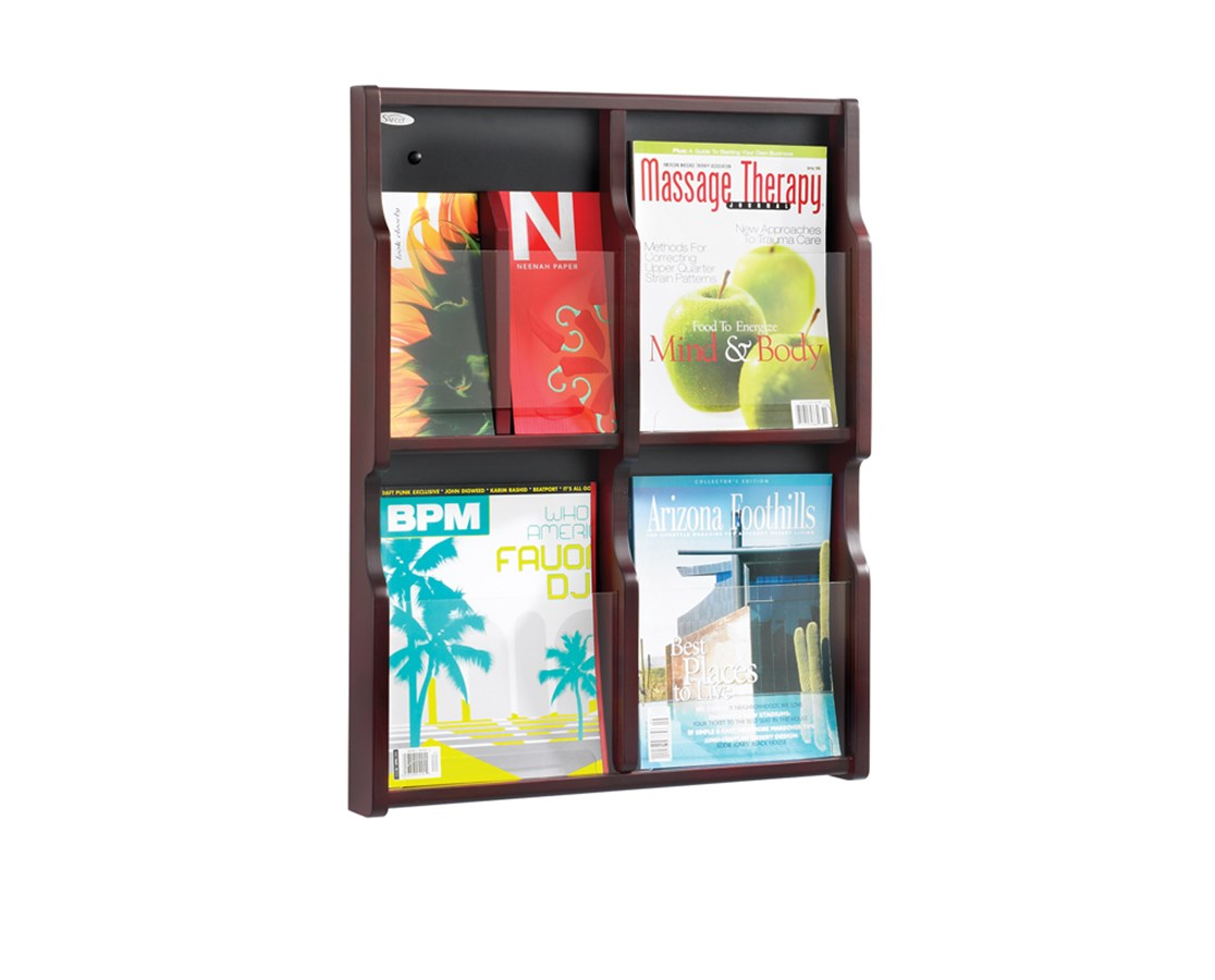 SAFCO5704-Expose 4 Magazine 8 Pamphlet Display SAF5704