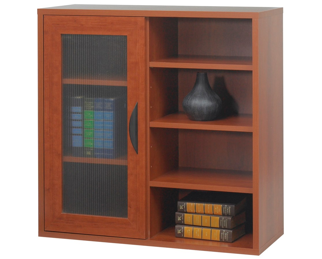 Safco Apres Single-Door Modular Storage Cabinet with Open Shelves