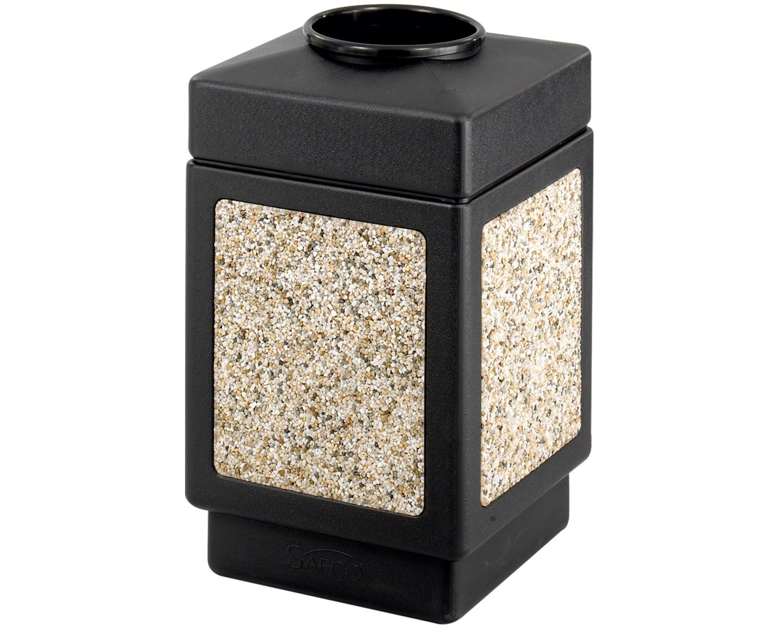 Safco 38 Gallon Canmeleon Aggregate Panel Waste Receptacle, Top Open SAF9471NC-