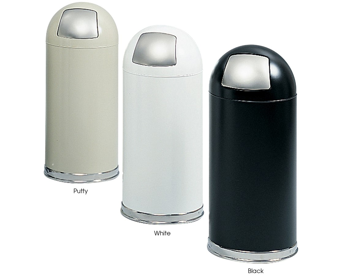 Safco Push Door Dome Top Receptacle