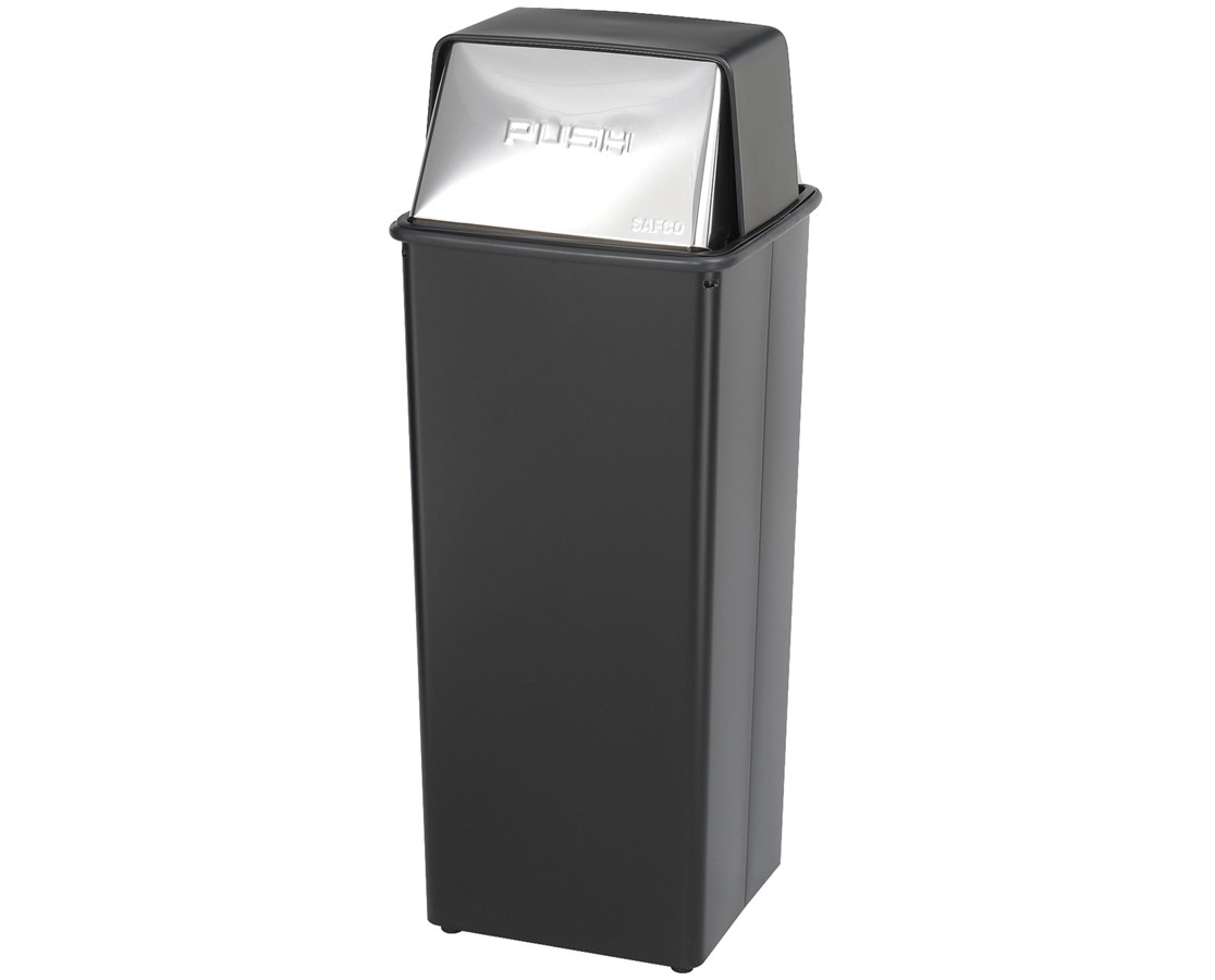 Safco Reflections Push Top Receptacle