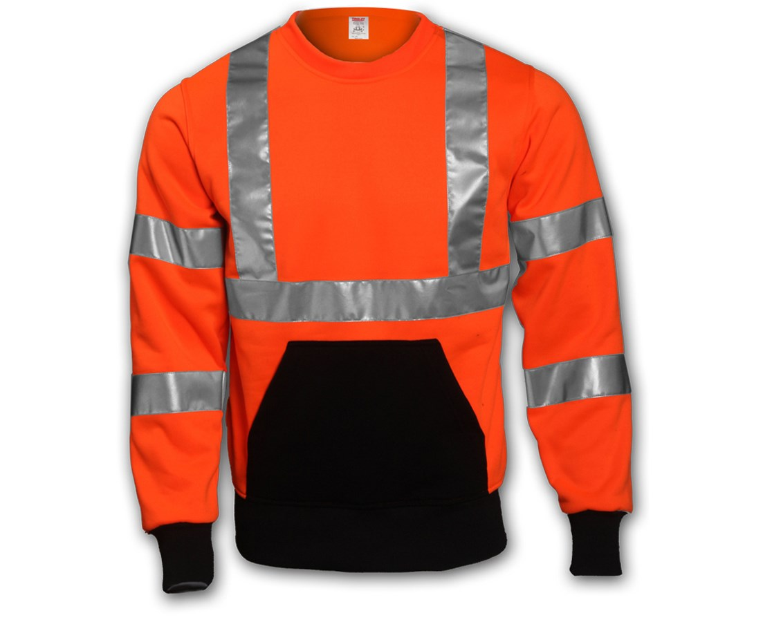 Class 3 Crew Neck High Visibility Sweat-shirt