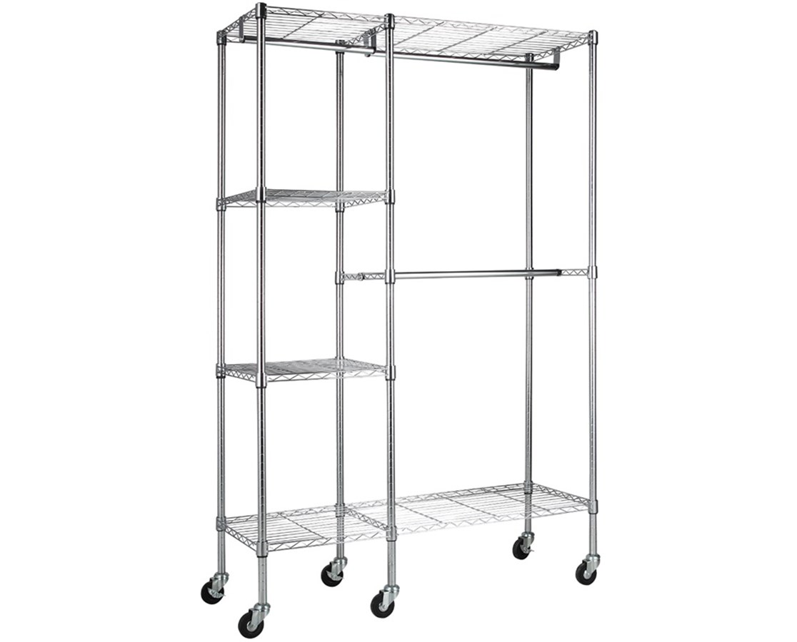 Sandusky Lee Mobile Wire Garment Rack SANEZGR4818-RW3