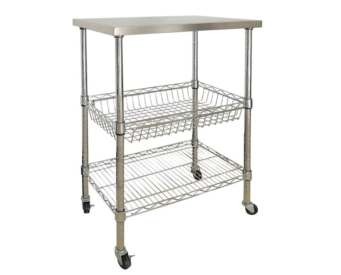Sandusky Lee Stainless Steel Top Wire Cart SANMKTSS241440