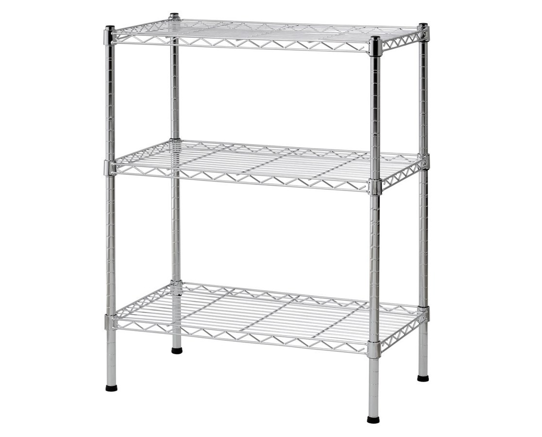 Sandusky Lee 3-Tier Chrome Light Duty Wire Shelving SANWS241430