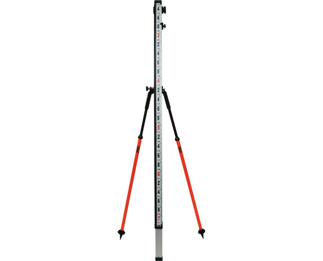SECO Barcode Leveling Rod Bipod 5217-21-FOR/-FLY/-RED/-YEL