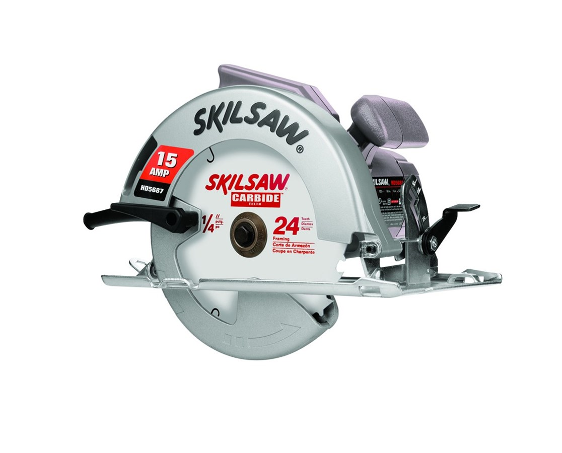 "Skil HD5687M-01 7-1/4"" Magnesium 15 Amp Skilsaw with 24T Carbide Blade and Spindle Lock SKIHD5687M-01"