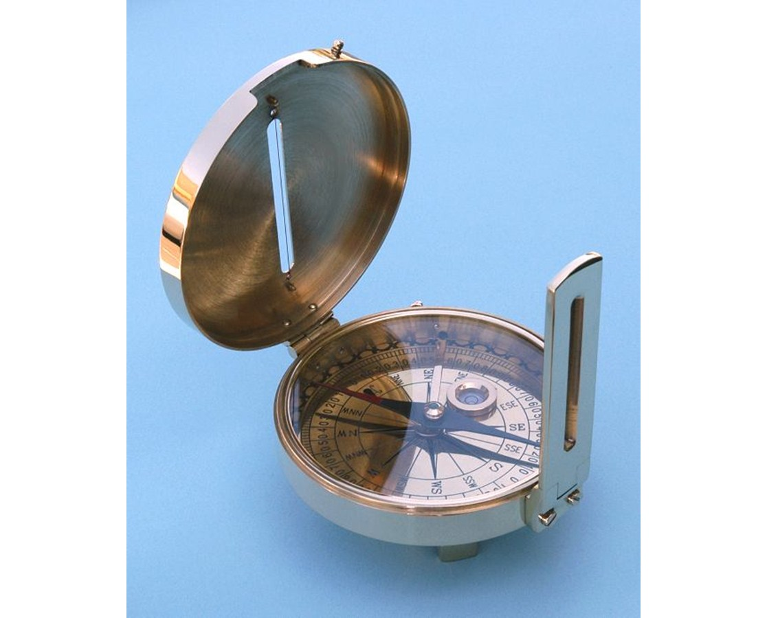 Solid Brass Surveyor's Compass SLSBSC