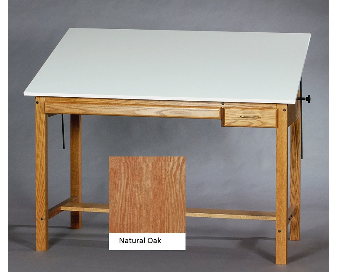 Exceptionnel SMI Professional Natural Oak Drawing Table F3648OT TR
