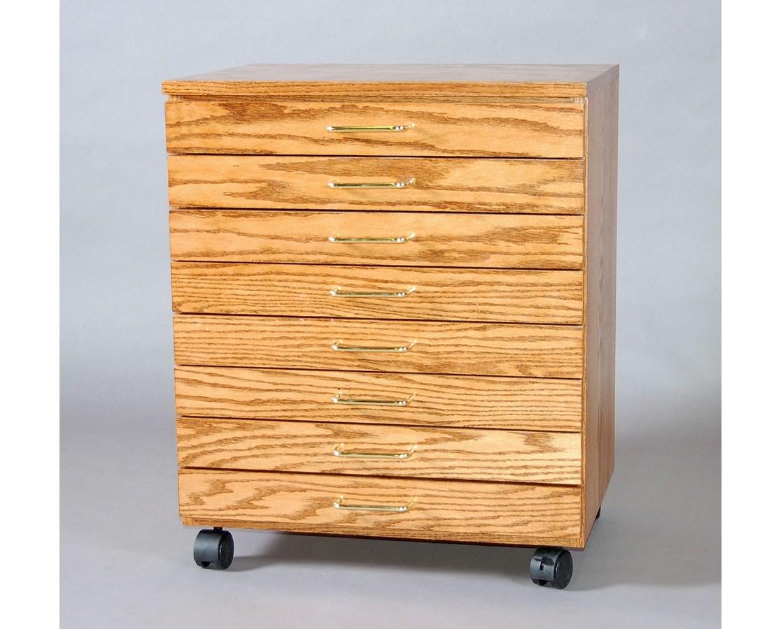 SMI TB800-MO SMI Medium Oak 8 Drawer Vanguard Taboret *DISCONTINUED*
