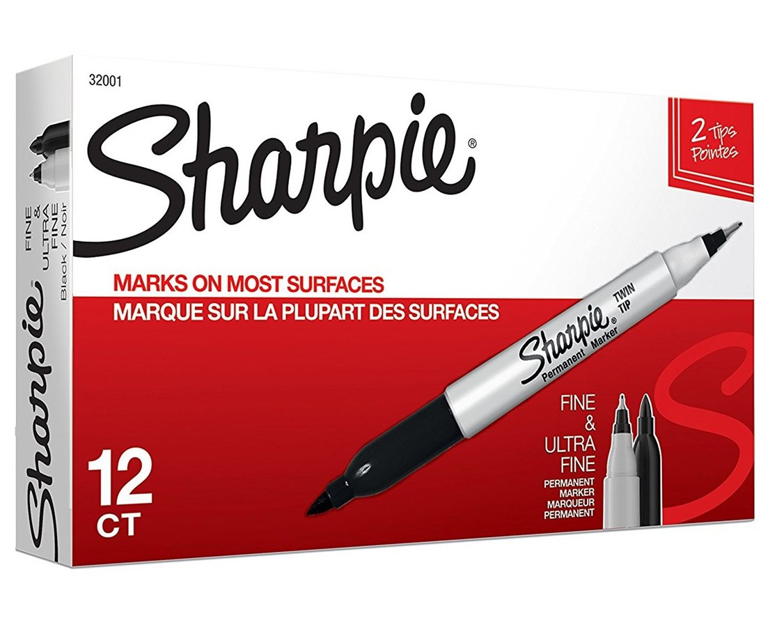 Sanford Sharpie Twin Tip Permanent Marker SN32001