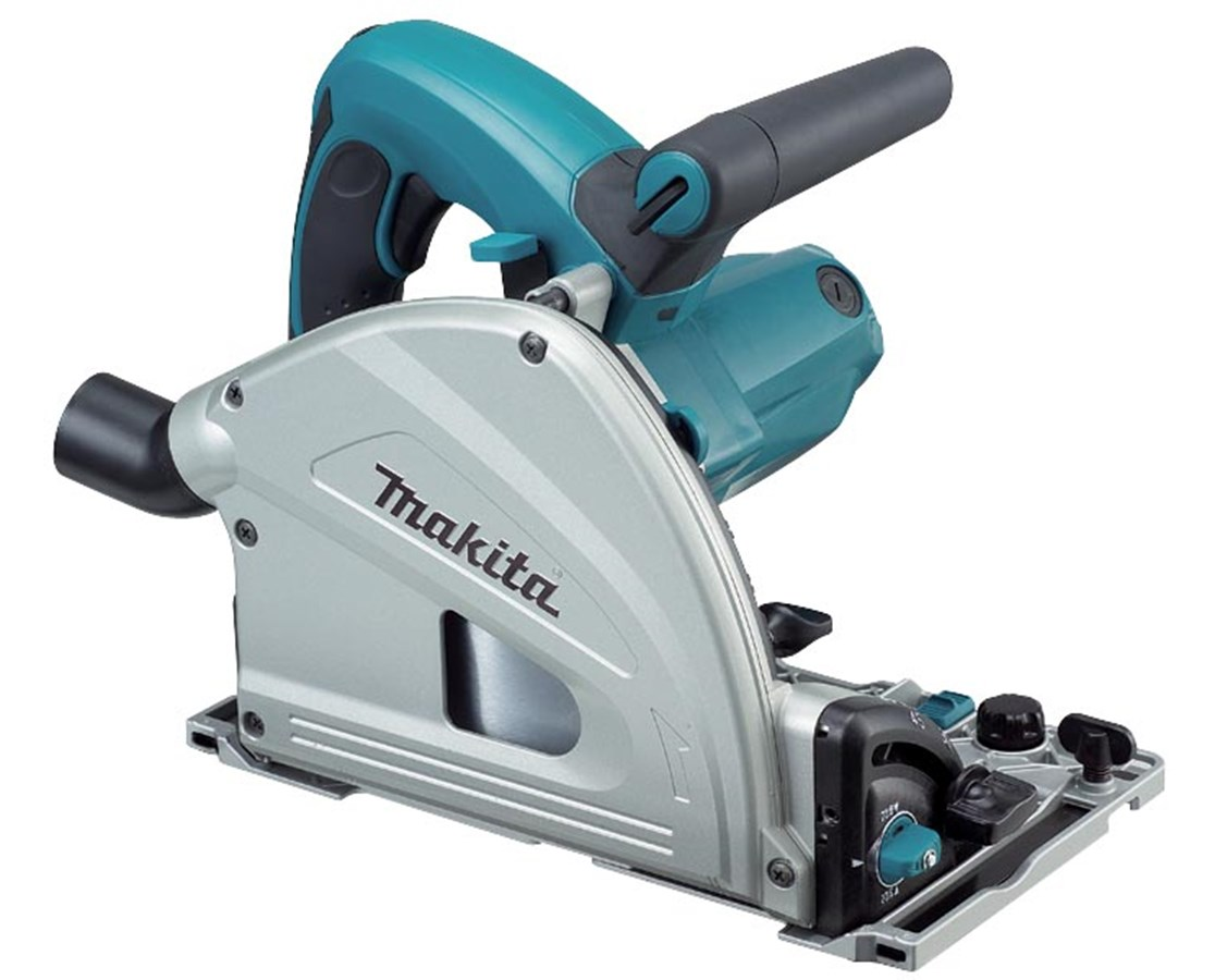 "Makita SP6000J 6-1/2"" Plunge Circular Saw with 55"" Guide Rail SP6000K1"
