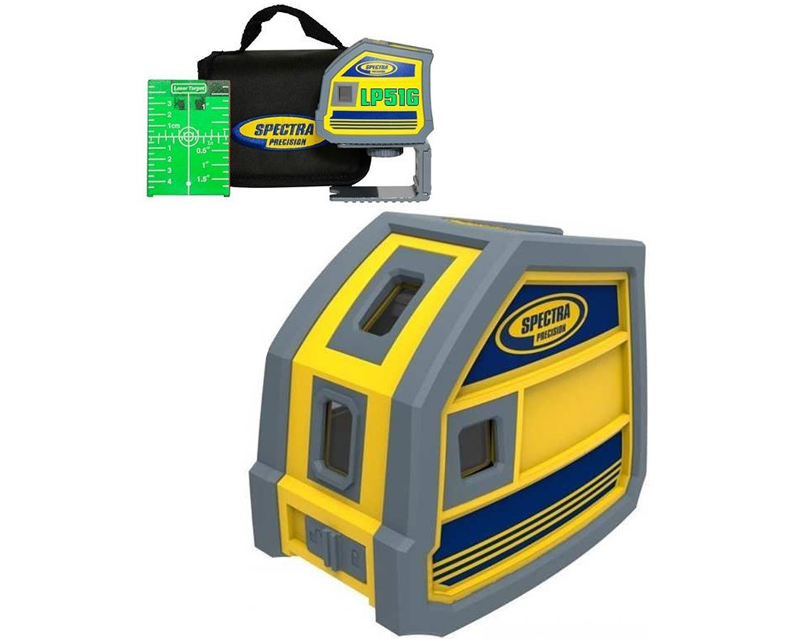 Spectra LP51G 5-Point Green Beam Laser Level SPELP51G