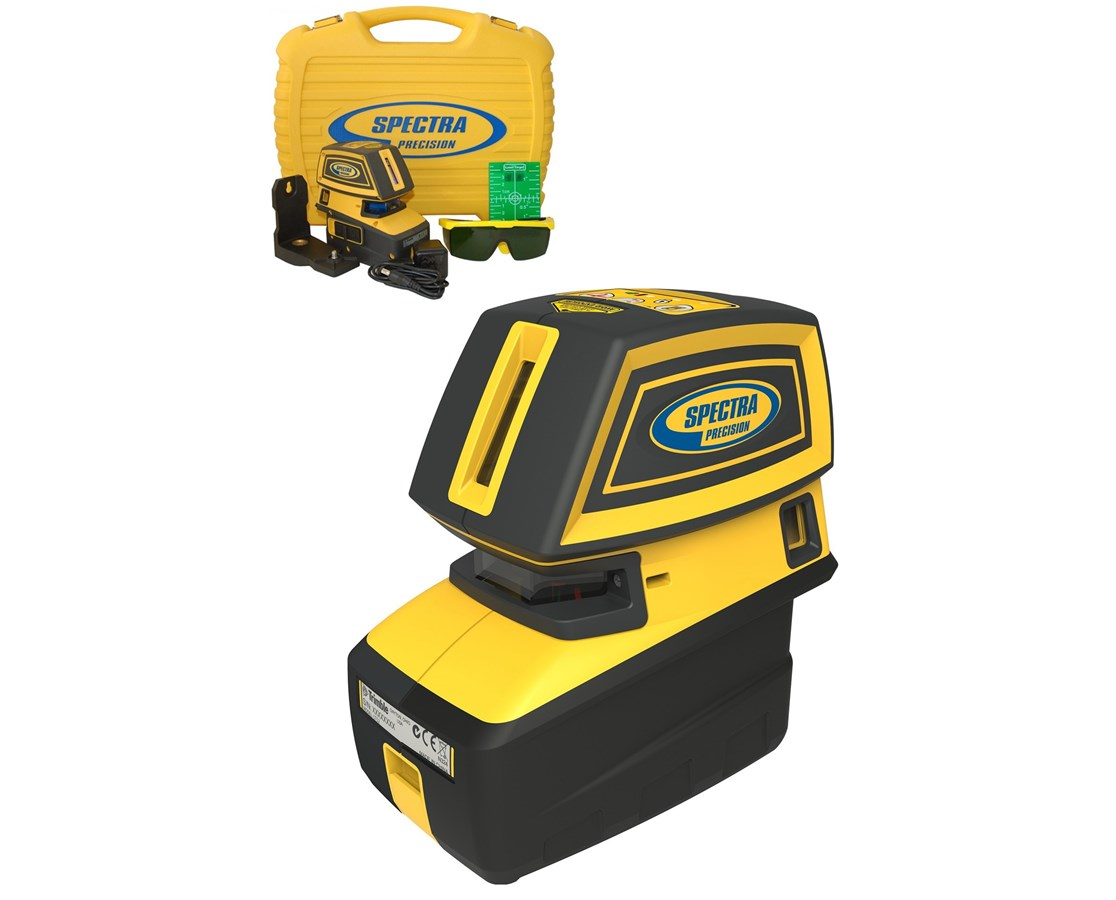 Spectra LT52G 5-Point and 2-Cross Green Beam Line Laser Level SPELT52G