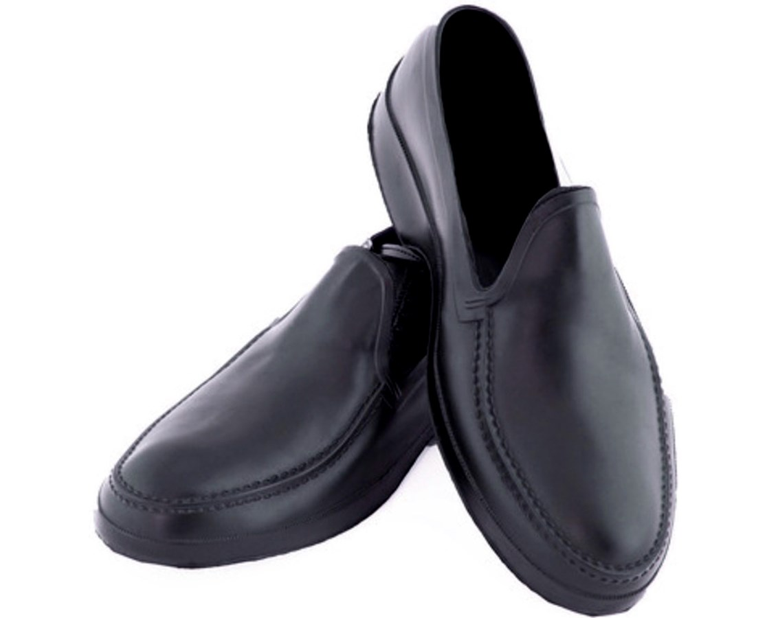 MEN'S BLACK DRESS RUBBER OVERSHOES - Moccasin TIN1900