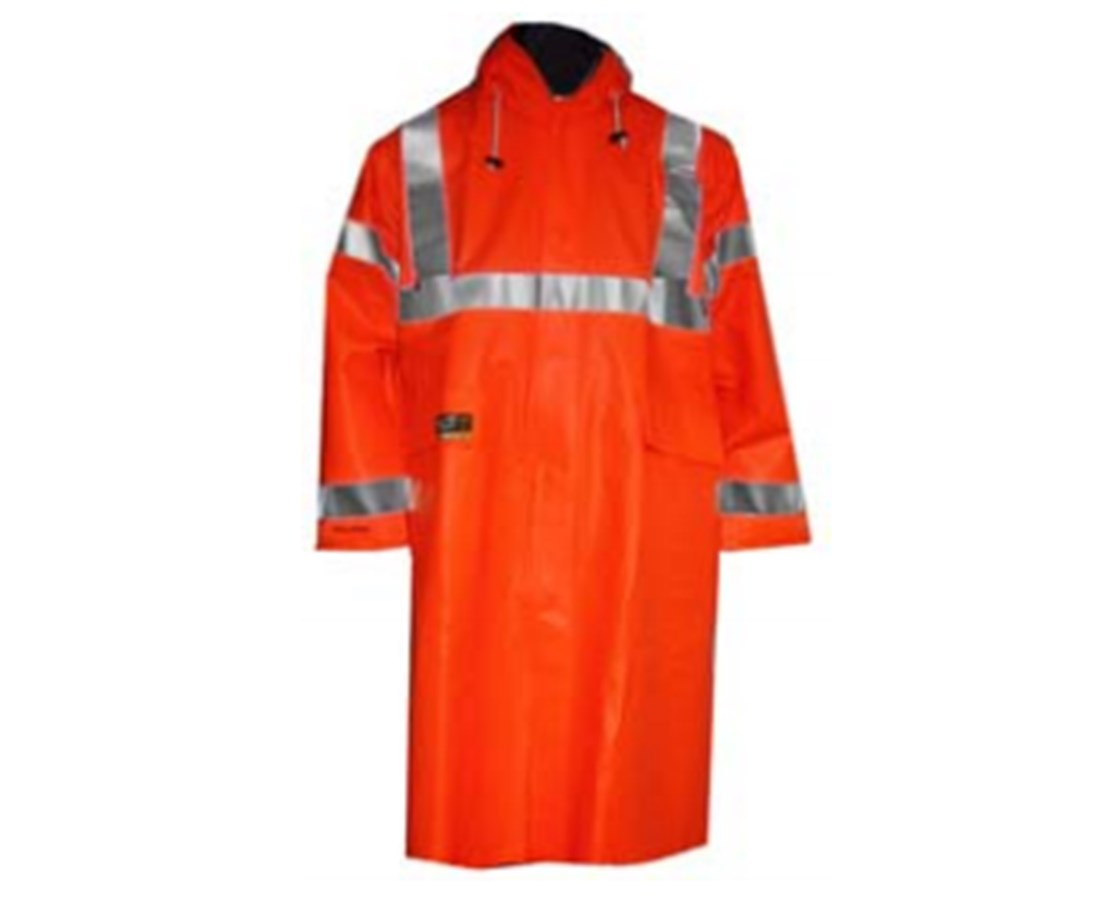 High Visibility Fluorescent Orange Red Coat C44129