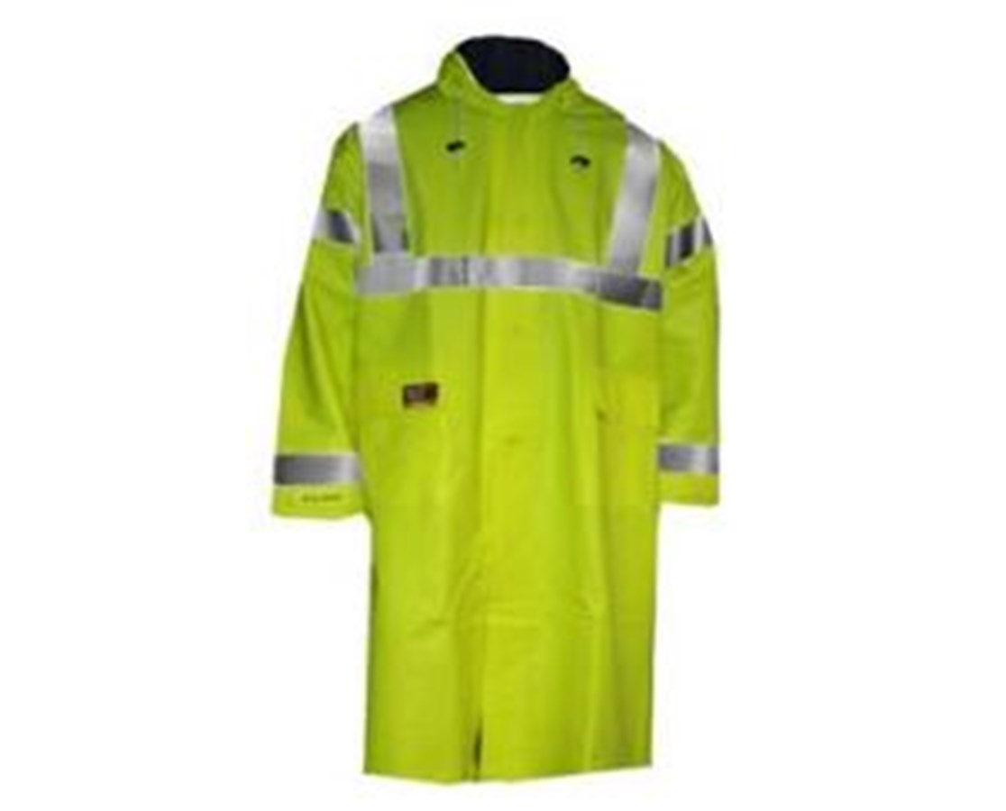 High Visibility Fluorescent Yellow Green Coat
