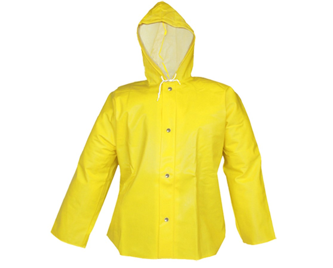 Waterproof Yellow Jacket with Attached Hood J31107