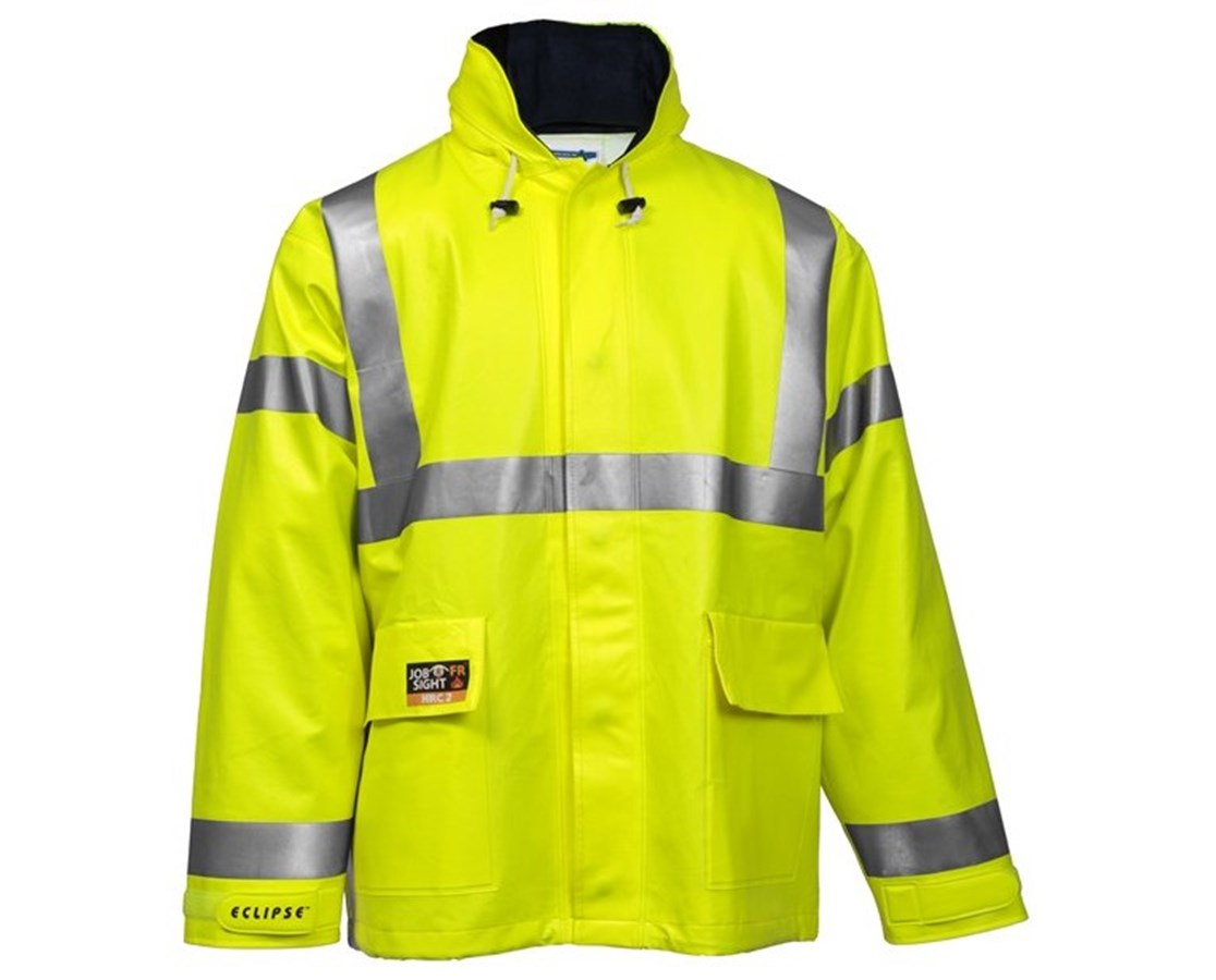 High Visibility Fluorescent Yellow Green Jacket