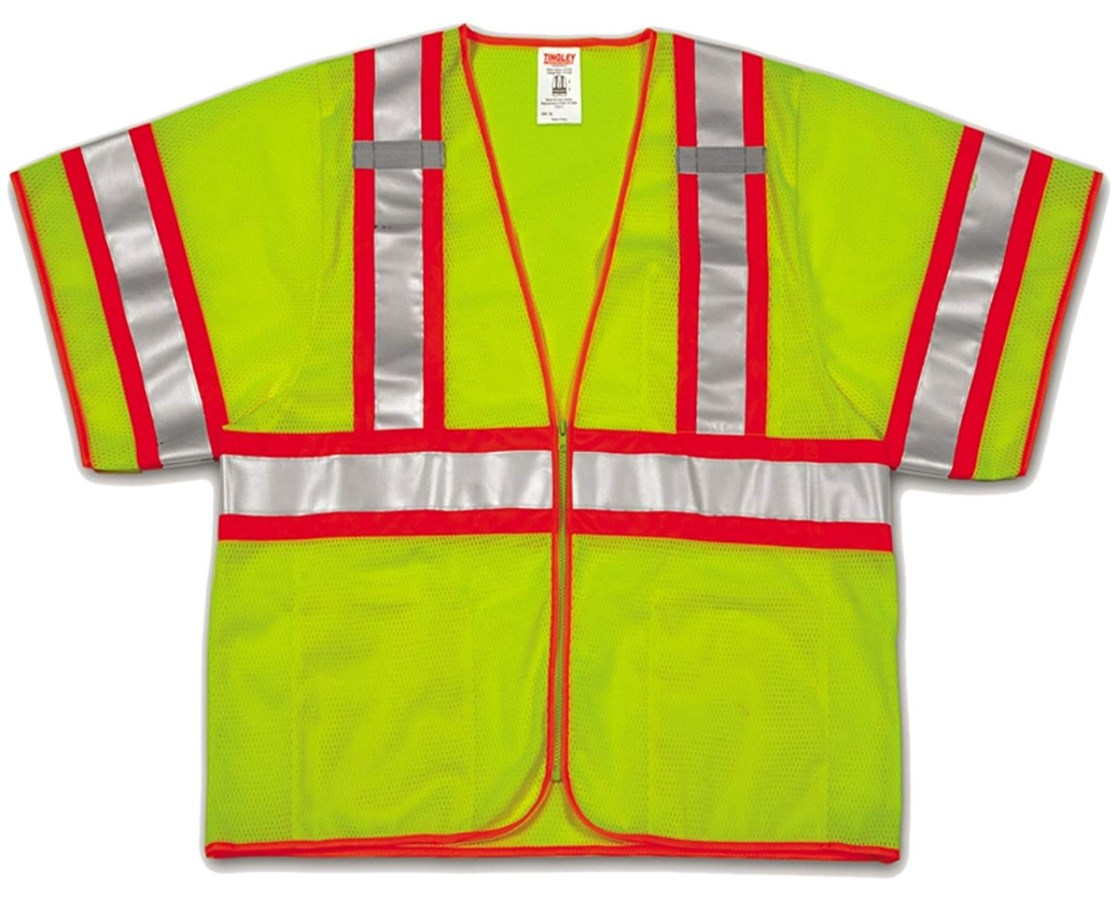 High Visibility Two-Tone Safety Vest Fluorescent Yellow Green