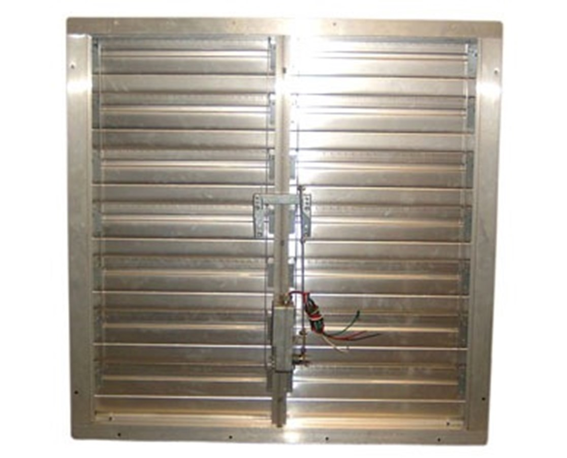 Motorized Supply Air Intake Shutter for TPI Exhaust Fan TPICESM24-