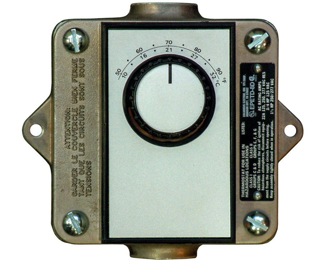 TPI 22-Amp Hazardous Location Thermostat TPIEPETD8D-