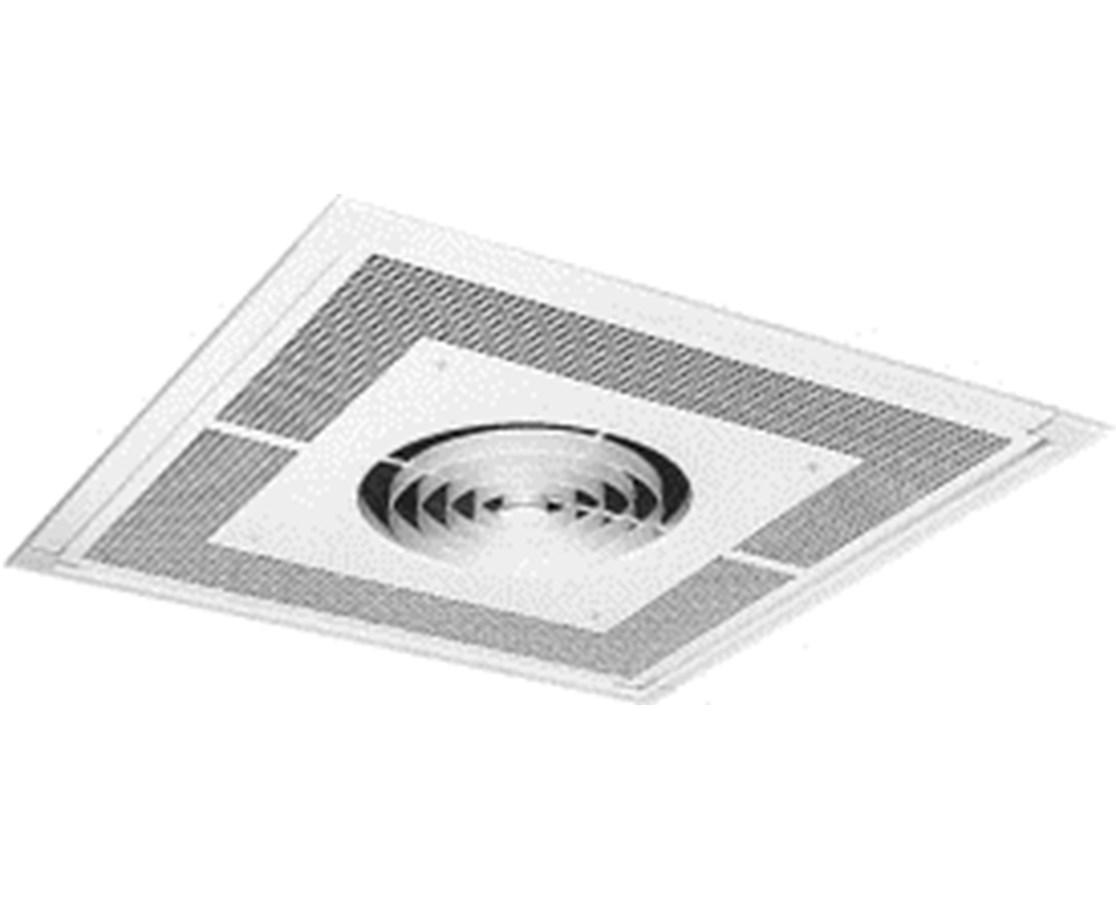 TPI 3480 Series Commercial Fan-Forced Recessed Mounted Ceiling Heater TPIF3482A1-
