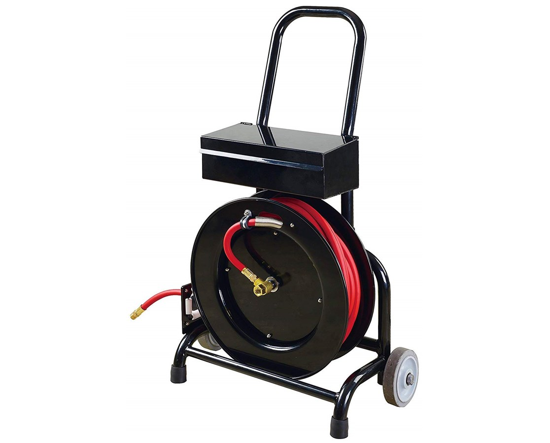Timber Tuff Hose Reel Cart with Tool Box TTTSTF-3850FHTB