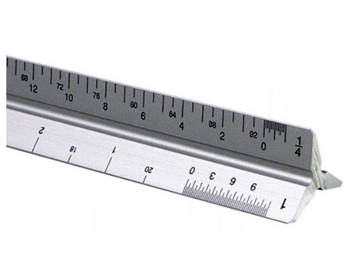 Alvin 2200M Series Aluminum Architect Triangular Scale 2200M-10